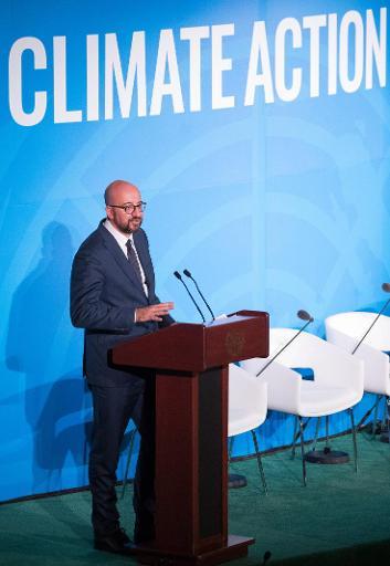 Sommet de l'ONU Action Climat - Charles Michel propose de doubler la contribution belge à la lutte climatique