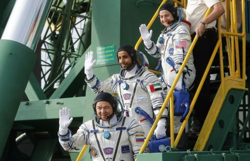 Trois astronautes dont le premier Emirati dans l'espace s'envolent pour l'ISS