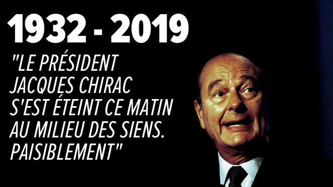 Jacques Chirac, l'ancien président français, est mort