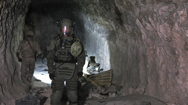 En Syrie, un réseau de grottes servait de base aux rebelles: