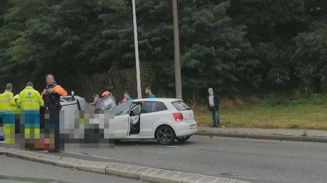 Grave accident de voiture à Seraing: un blessé emmené à l'hôpital