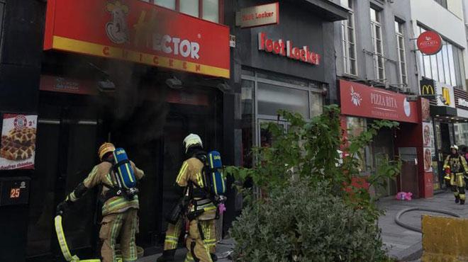 Incendie au restaurant Hector Chicken d'Ixelles: le feu aurait pris dans les cuisines