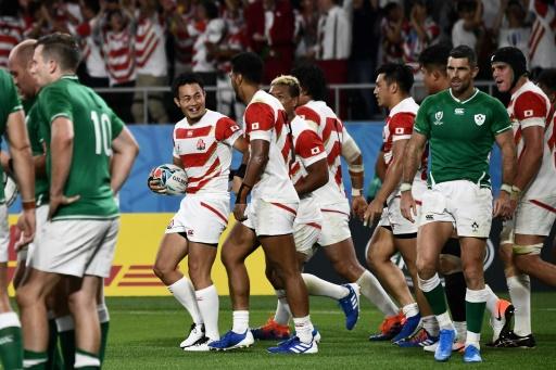 Mondial de rugby: exploit du Japon vainqueur de l'Irlande