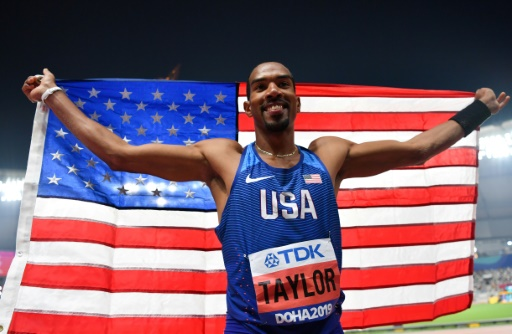 Athlétisme: 4e titre mondial pour l'Américain Christian Taylor au triple saut
