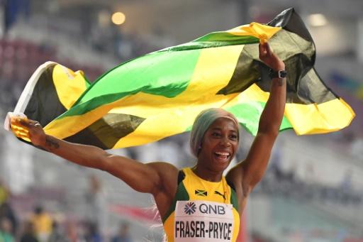 Athlétisme: la Jamaïcaine Fraser-Pryce remporte son 4etitre mondial sur 100 m