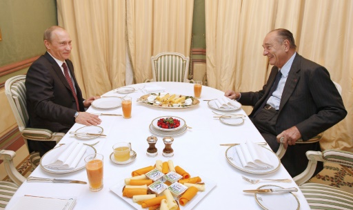 Hommage à Chirac: une visite de Poutine en plein rapprochement avec Paris