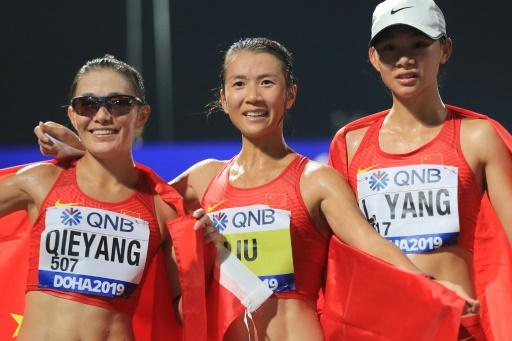 Mondiaux d'athlétisme: les Chinoises écrasent le 20 km marche