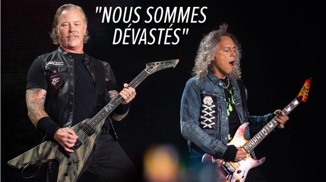 Metallica forcé de reporter le reste de sa tournée: James Hetfield ne va pas bien