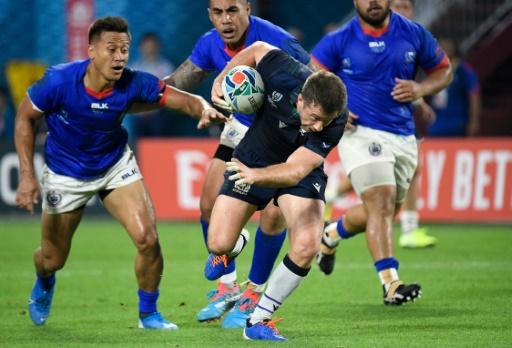 Mondial de rugby: l'Ecosse entretient l'espoir d'accéder aux quarts