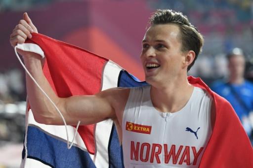 Athlétisme: le Norvégien Karsten Warholm conserve son titre sur 400 m haies