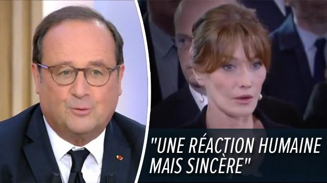 Visage stupéfait de Carla Bruni aux obsèques de Jacques Chirac: François Hollande révèle ce qu'ils se sont dit (vidéo)