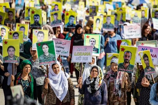 Syrie: des Kurdes manifestent contre leur