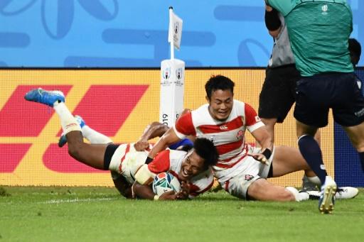 Mondial de rugby: le Japon bat les Samoa et poursuit sa route vers les quarts