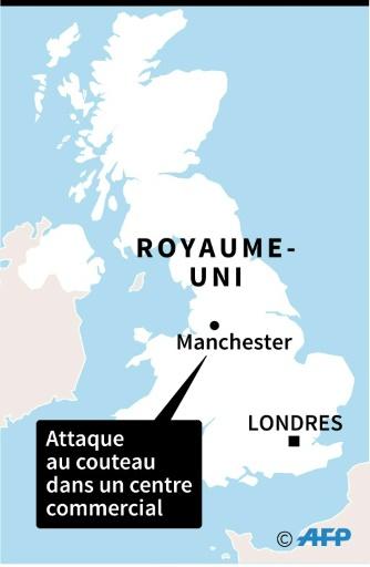 Attaque à l'arme blanche à Manchester: la police antiterroriste saisie