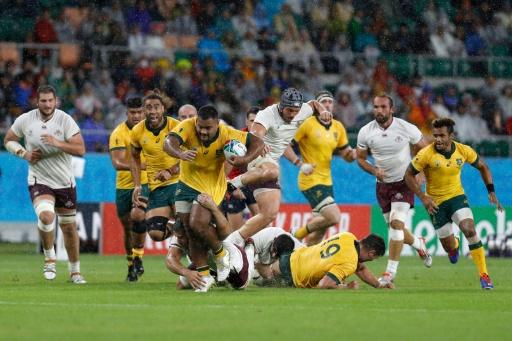 Mondial de rugby: l'Australie en quart, à petits pas
