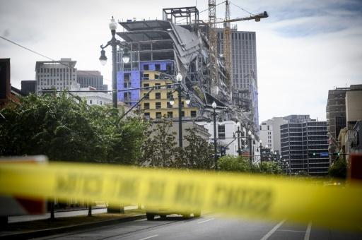 Un hôtel en construction s'effondre à La Nouvelle-Orléans, un mort et trois disparus