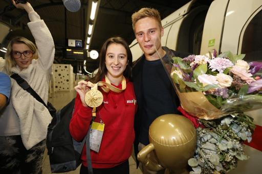 Mondiaux de gymnastique - Nina Derwael de retour en Belgique après