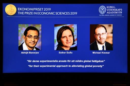 Le Nobel d'économie à un trio, dont Esther Duflo, deuxième femme et plus jeune lauréat du prix