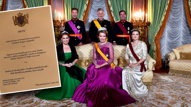 Dîner de gala du Roi et de la Reine au Grand-Duché de Luxembourg: voici le menu