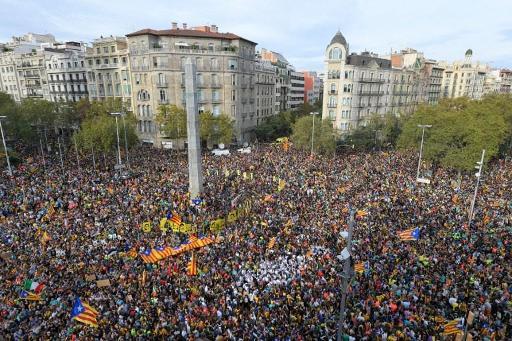 Un demi-million de manifestants indépendantistes à Barcelone