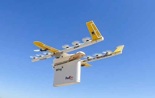 Wing livre désormais par drones dans une petite ville américaine