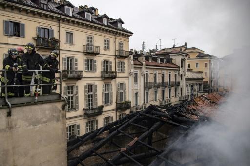 Incendie à l'Ecurie Royale de Turin, site Unesco
