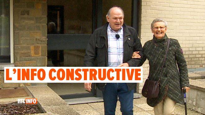 Alain emmène Jeanine, 85 ans, à une réunion de malades d'Alzheimer- Voir les personnes radieuses, c'est notre récompense