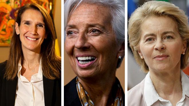 Sophie Wilmès, Christine Lagarde, Ursula Von der Leyen: pour la première fois, trois femmes occupent des postes importants en Europe