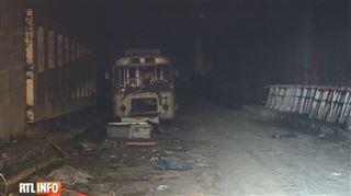 Scène impressionnante à Liège- un tunnel destiné au pré-métro a brûlé toute la nuit