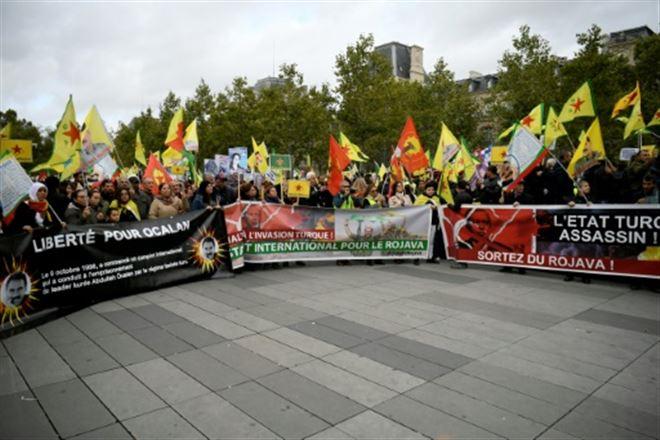 Manifestation de Kurdes à Paris