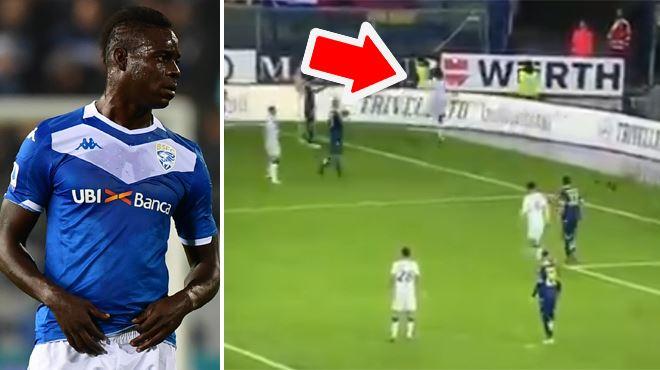 Le coup de COLÈRE de Balotelli- il expédie violemment un ballon vers des fans de Vérone et menace de quitter le terrain (vidéo)