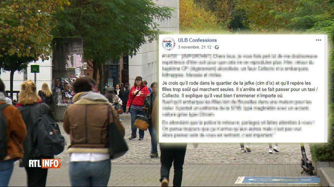 Une étudiante de l'ULB dépose plainte pour viol contre un faux chauffeur de taxi: le viol aurait été commis à La Louvière
