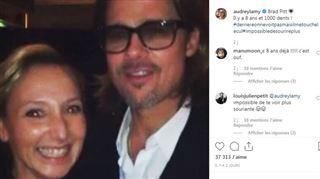 Audrey Lamy fait de l'humour avec Brad Pitt- Il me touche le cul!