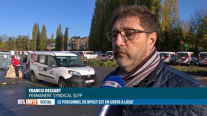 La grève continue partiellement chez bpost Liège: les agents refusent la solution des intérimaires