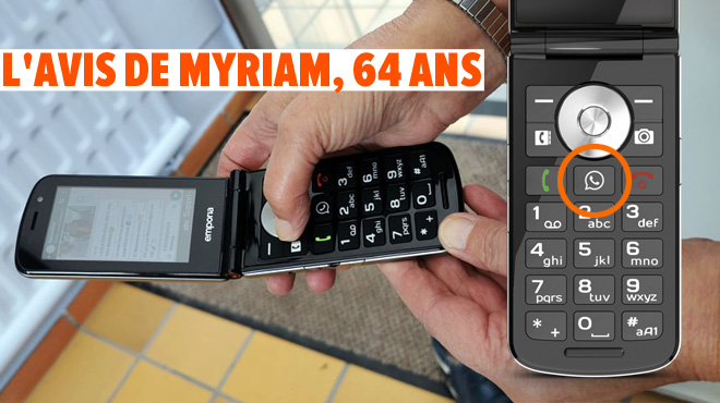 Les tests de Mathieu: ce téléphone pour senior a un bouton dédié à WhatsApp, est-ce une bonne idée?