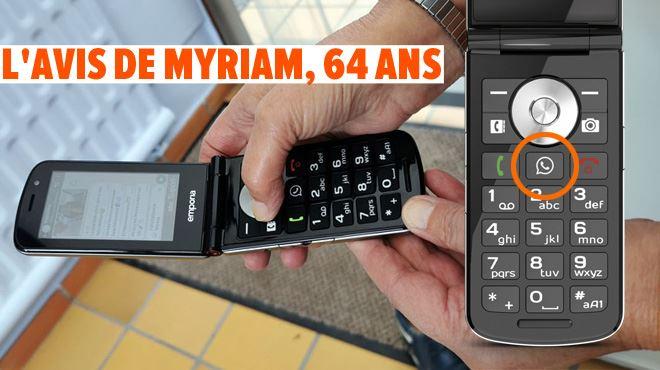 Les tests de Mathieu- ce téléphone pour senior a un bouton dédié à WhatsApp, est-ce une bonne idée?