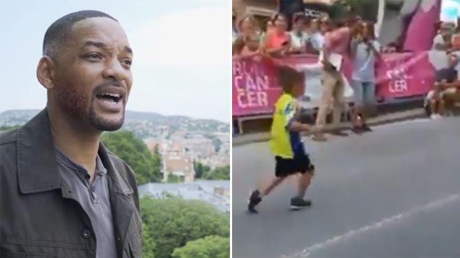 Will Smith ÉMU par l'exploit d'un petit garçon atteint d'une paralysie cérébrale- la vidéo a fait le tour du monde