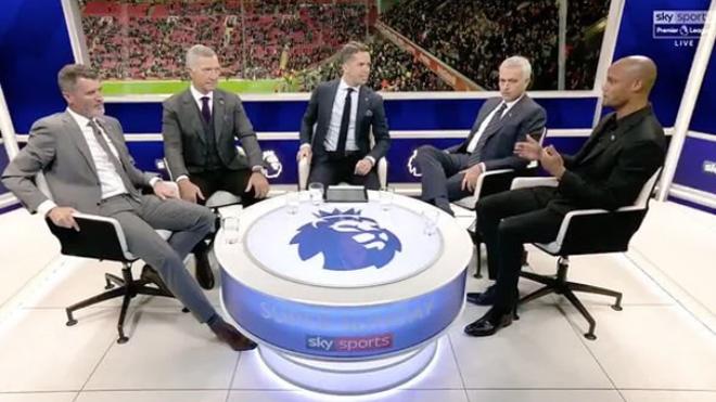 Pour ses débuts à la télévision anglaise, Vincent Kompany se fait remettre à sa place par José Mourinho (vidéo)