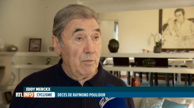 Eddy Merckx réagit avec émotion au décès de Raymond Poulidor: