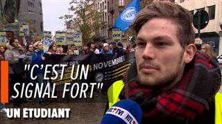 Après l'immolation d'un étudiant en France, des jeunes manifestent en Belgique- Beaucoup ont du mal à joindre les deux bouts