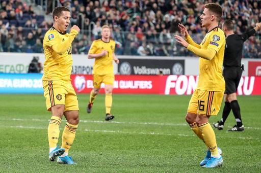 Diables Rouges - La Belgique s'impose en Russie (1-4) et sera tête de série lors du tirage au sort