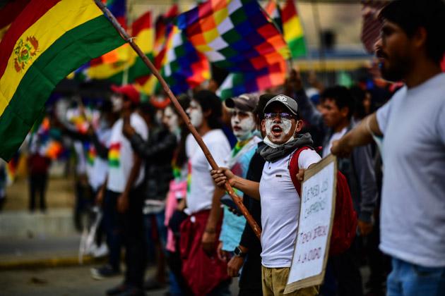 bolivie-manifestants