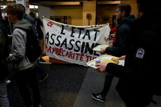 Les étudiants peinent à mobiliser contre la précarité sauf à Lyon