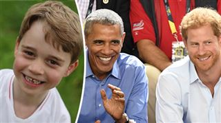 Le jour où le prince Georges a taquiné le prince Harry devant les Obama 3