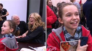 Elise, 12 ans, FAN de Luc Gilson, l'a rencontré après la pièce du Télévie (vidéo)