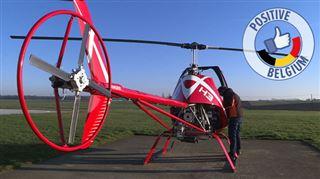 Cet hélicoptère ultraléger, vendu en kit, a été conçu et fabriqué à Thines (Nivelles)- Ça permet de réduire les coûts