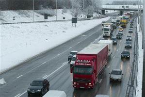 La pré-alerte routière est déclenchée en raison des conditions météorologiques hivernales