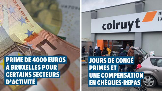 Coronavirus en Belgique - DERNIÈRES INFOS- inscription pour la prime de 4000€ à Bruxelles, accord chez Colruyt et Lidl