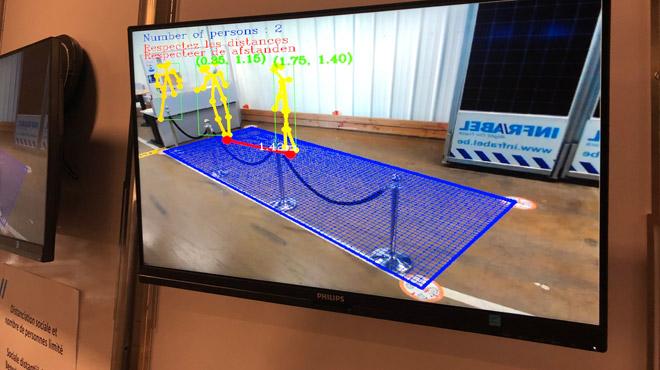 Infrabel va utiliser l'intelligence artificielle pour détecter si des personnes sont trop proches ou ne portent pas de masque