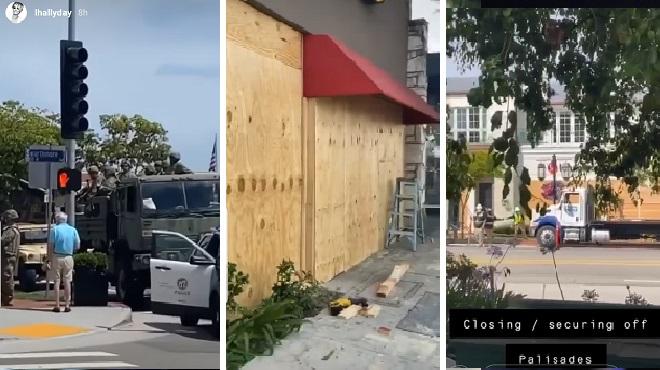 Pacific Palisades, le quartier des stars à Los Angeles se BARRICADE- Laeticia Hallyday partage son couvre-feu